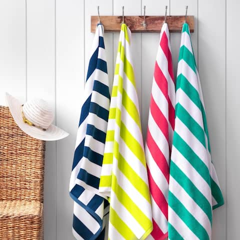 Martha Stewart Boardwalk Cabana Stripe Beach Towel