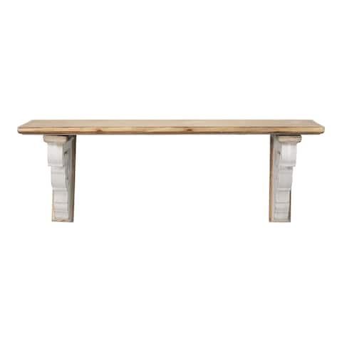 Stratton Home Decor Rustic Wood Shelf - 23.75 X 6.50 X 8.75
