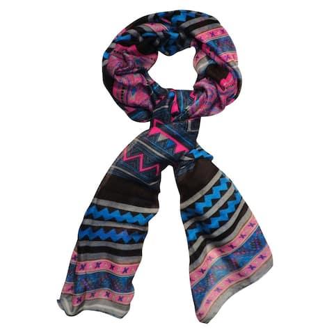 Peach Couture Women's Vibrant Aztec Tribal Print Shawl Wrap Scarves