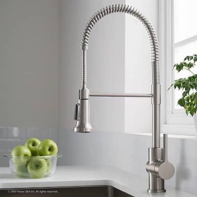 HighlanderHome Modern Kitchen Faucet SiHead BrushedChrome Finished - SingleHead_BrushedChrome