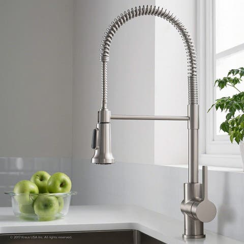 HighlanderHome Modern Kitchen Faucet SiHead BrushedChrome Finished - SingleHead_BrushedChrome