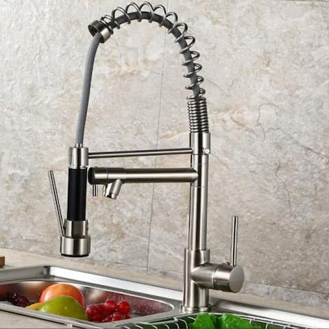 HighlanderHome Modern Pull Down Sprayer Kitchen Sink Faucet