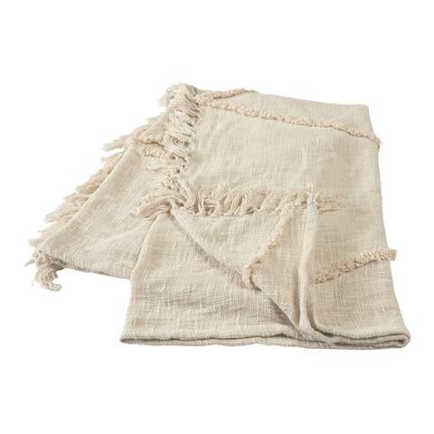 Birch Cream Tufted Throw Blanket