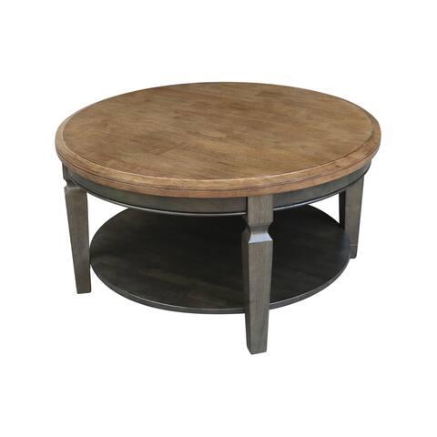 "Vista Round Coffee Table - 37.99""W x 37.99""D x 20.3""H"