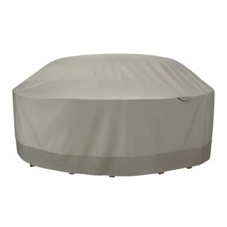 Duck Covers Weekend Water-Resistant 106 Inch Outdoor Round Table & Chair Cover with Integrated Duck Dome, Moon Rock