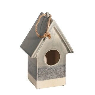 "Link to Ceramic 9.5"" Deco Bird House,Gray Similar Items in Accent Pieces"