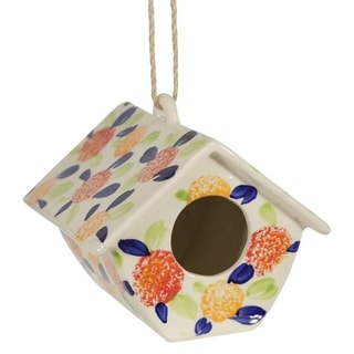 "Link to Ceramic 8"" Floral Birdhouse, Multicolored Similar Items in Accent Pieces"