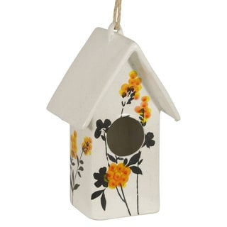 "Link to Ceramic 10"" Floral Birdhouse, Yellow Similar Items in Accent Pieces"