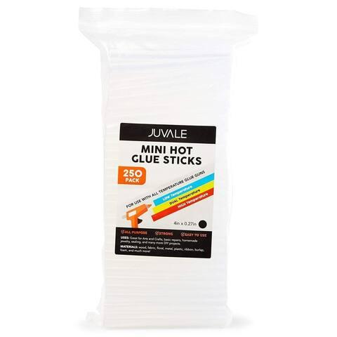 250x Mini Hot Glue Gun Sticks for DIY Sealing Repairing, Clear, 0.25 x 4 inches
