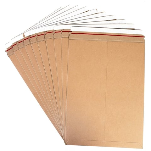 25-Pack Kraft Rigid Mailer Shipping Envelopes Packing Envelopes for Documents Photos, 13 x 18 Inches