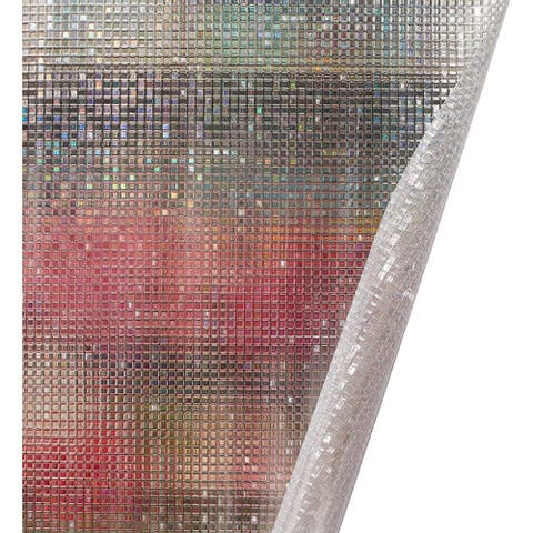 2-Pack Small Mosaic Self-Adhesive Frosted Window Privacy Film Cover for Glass Door Home Office Bathroom