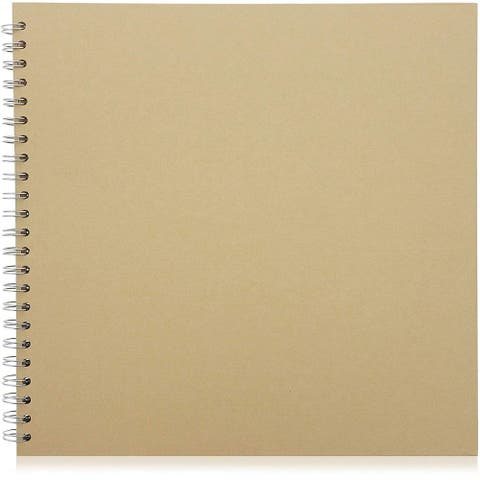 "40 Sheets 12"" Blank Hardcover Kraft Scrapbook Photo Album DIY Crafts Anniversary"