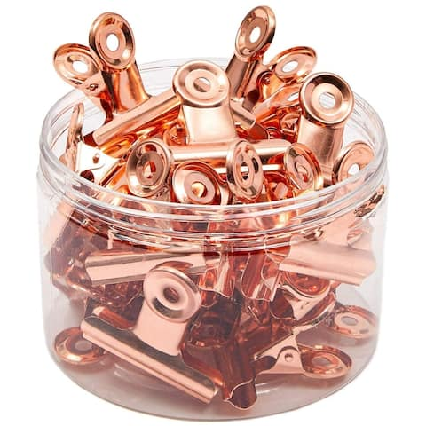 30 Pack 2 in Rose Gold Metal Photo Clips Bulldog Picture Clips for Paper Document Office School Supplies