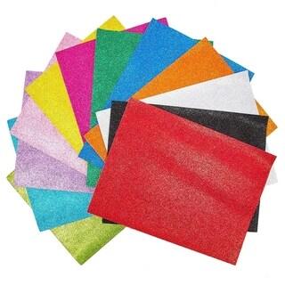 "48 Pack 12 Colors Eva Glitter Foam Sheets 9""x 12"" for DIY Art & Crafts Decorations"