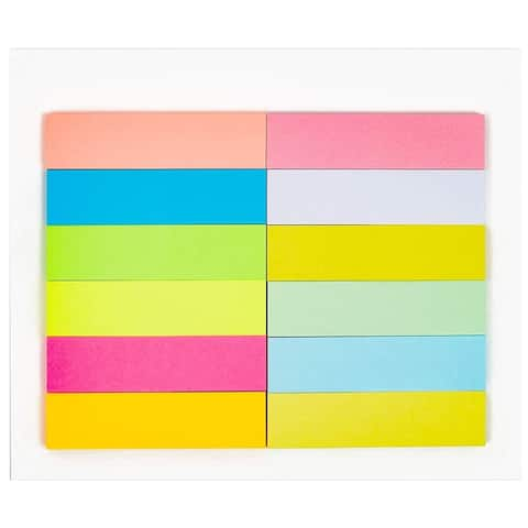 6Pcs 12 Colors Page Marker Sticky Index Note Tabs for School Office Home Reminder Memos
