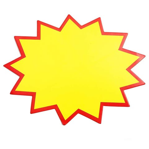 150 Pack Starburst Signs for Retail Shop Promotion Sale Tags, Yellow, 6.5 x 5 Inches