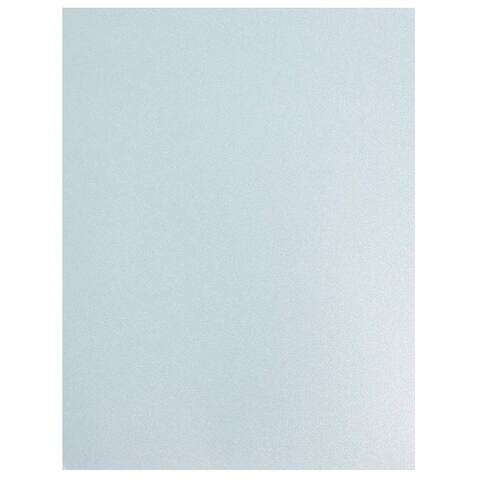 96 Pack Blue Shimmer Metallic Cardstock Paper Crafts 8.5x11in, Printer Friendly