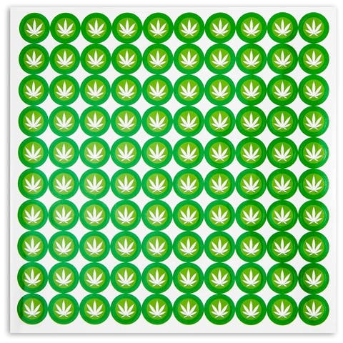 1500 Count Weed Leaf Round Green Stickers for Planner Calendars, Decorative Scrapbooking, DIY Crafting, 0.5 inch Diameter