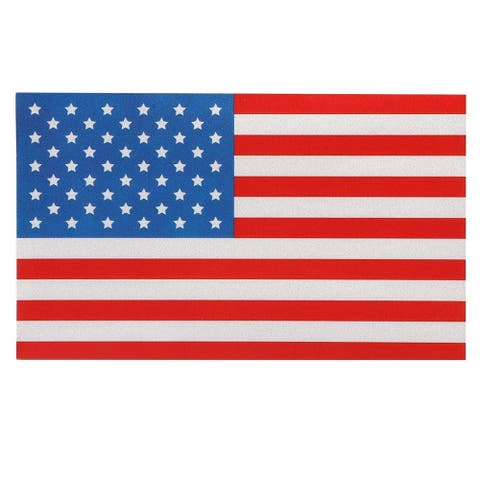8x US American Flag Window Decal Reflective Car Patriotic Stickers, 5 x 3 inches