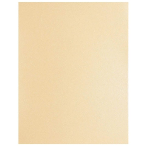 48 Pack Beige Shimmer Metallic Cardstock Paper Crafts 8.5x11in, Printer Friendly