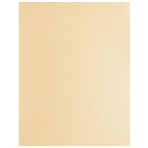 96 Pack Beige Shimmer Metallic Cardstock Paper Crafts 8.5x11in, Printer Friendly
