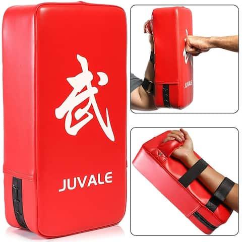 Kickboxing Pads Martial Arts Training Equipment Taekwondo Karate Kick Pad Punching Bag, Red, PU Leather