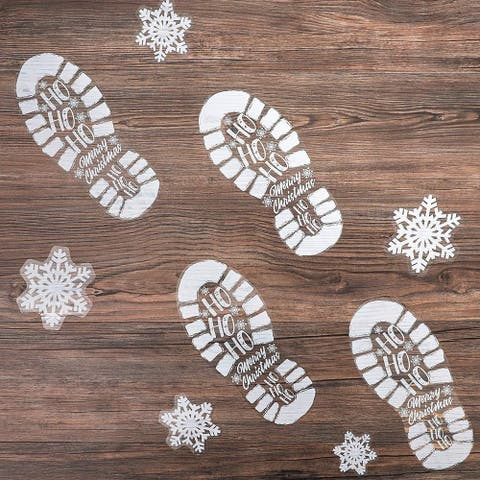 127x Christmas Window Decal Clings Stickers Footprints and Snowflakes Home Décor