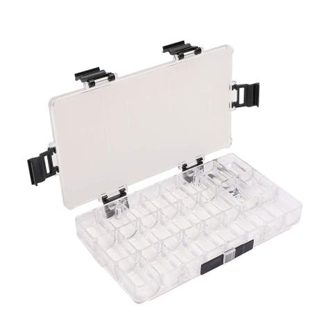24-Well Paint Storage Wet Palette Box Airtight Leakproof Stay Wet Travel Case for Watercolor, Gouache, Acrylic and Oil Paint