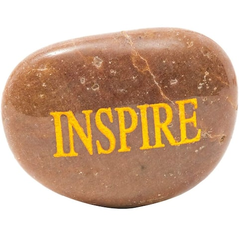 12x Inspirational Faith Magnetic Stones with Gold Engraved Words, Assorted