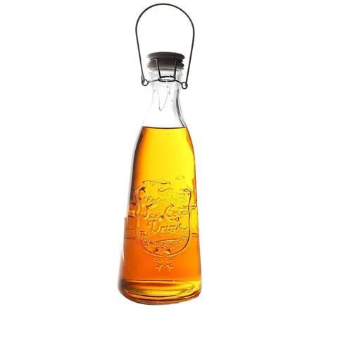 6 Pack Glass Bottles with Swing Top Lids 35.5oz for Vinegar Oil Liquid Honey