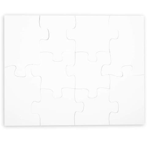 10 Piece Unfinished Blank Poster Jigsaw Puzzle for Kids Students Learning Fun Party Game Favor Art Project, 22x 28 inches