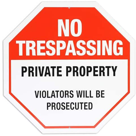 """Private Property No Trespassing Rust Free Sign 12"""" for Indoor & Outdoor Use"""
