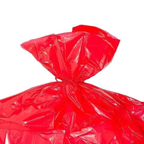3x Jumbo Christmas Gift Wrapping Bag Plastic Gift Sacks Large Bags for Bikes Red