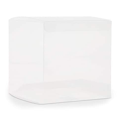50x Clear Plastic Gift Boxes for Party Favors Weddings Cookies Cupcakes 4""