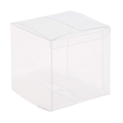 50x Clear Plastic Gift Boxes for Party Favors Weddings Cookies Cupcakes 3""