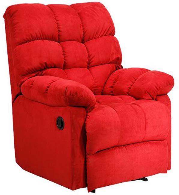 Wall Hugger Crimson Microfiber Recliner Theater Chair