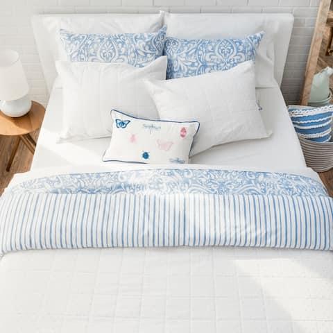 Martha Stewart Brynn Texture 3 Piece Quilt Set