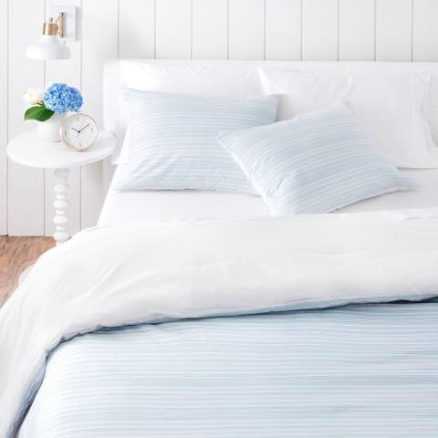 Martha Stewart Homestead Stripe 3 Piece Duvet Cover Set