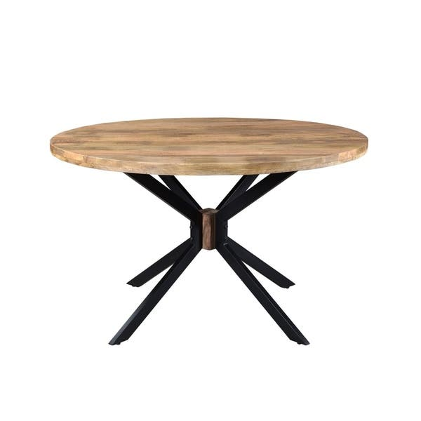 Root Mango Wood Round Dining Table On Sale Overstock 31103951