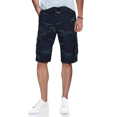 XRAY Men's Belted Tactical Cargo Shorts With Double Pocket
