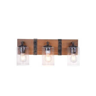 Link to Wood and Metal Rustic Farmhouse Bathroom Vanity Light Fixture Similar Items in Bathroom Vanity Lights