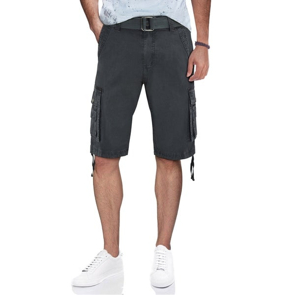 XRAY Mens Belted Tactical Cargo Shorts With Draw Cord by  Fresh