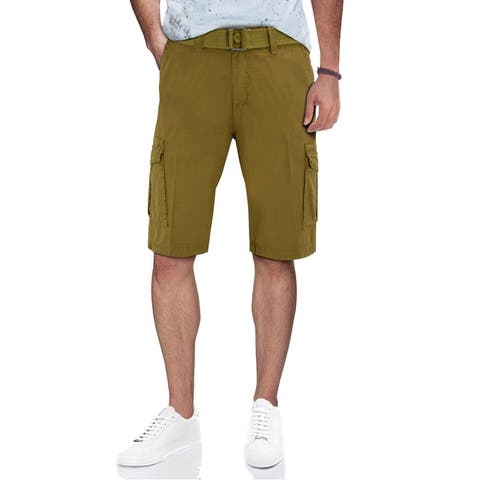 XRAY Men's Belted Classic Fit Cargo Shorts with Snap Closure