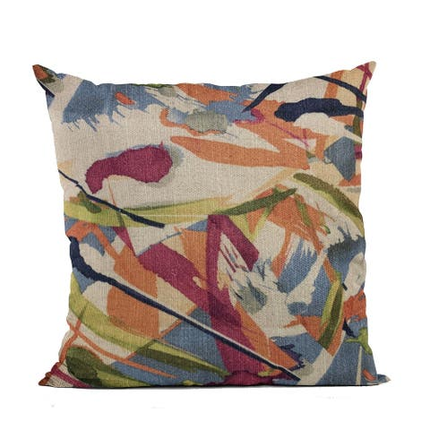 Plutus Multi-Color Graphic Print Luxury Throw Pillow