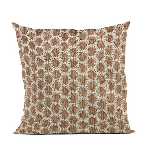 Plutus Brown Eyelashes Dot Luxury Throw Pillow