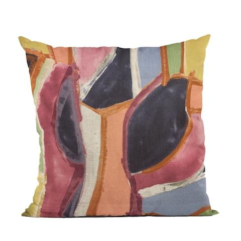 Plutus Multi-Color Modern Art Graphic Print Luxury Throw Pillow