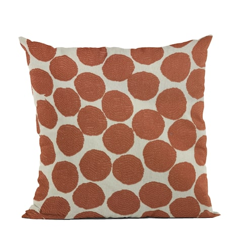 Plutus Red, Beige Tomato Dot Luxury Throw Pillow