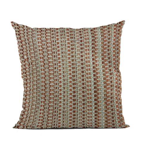 Plutus Multi-Color Weave Stripe Luxury Throw Pillow
