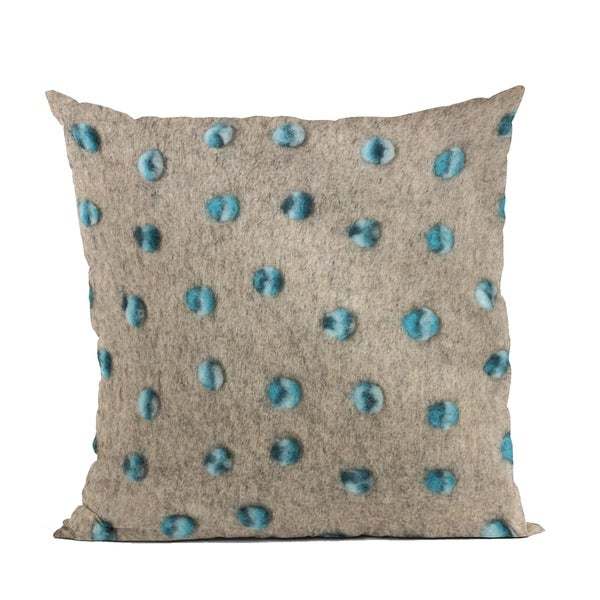 Plutus Blue Wool Dot Luxury Throw Pillow. Opens flyout.