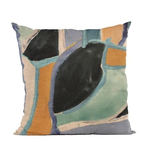 Plutus Blue Modern Print Graphic Print Luxury Throw Pillow